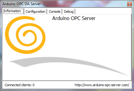 Arduino OPC Server running