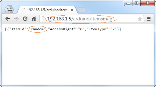 Declared items in the Arduino YÚN sketch